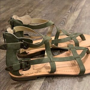 G by Guess green buckle sandal
